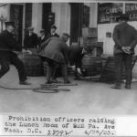 Prohibition Officers raiding the Lunch Room of 922 Pa. Ave. in Washington D.C.