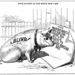 Blind Pig Cartoon - March 23 1909 in the Oregonian
