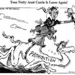 Carrie Nation Cartoon