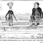 Fence cartoon in Grip, Toronto, May 7 1887