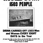 The Titanic Carried Down 1503 People, a poster by the American Issue Publishing Co., Westerville, OH, 1913