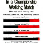 Abstainers' Advantage In a Championship Walking Match, a poster by the American Issue Publishing Co., Westerville, OH, 1913