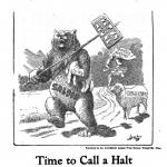 Time to Put a Halt, a poster by the American Issue Publishing Co., Westerville, OH